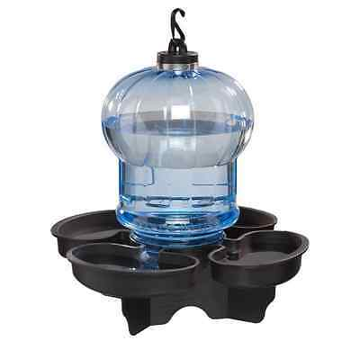 NEW Outdoor Blue Globe Bird Bath Birdbath Waterer Water Feeder Bowl Garden Patio