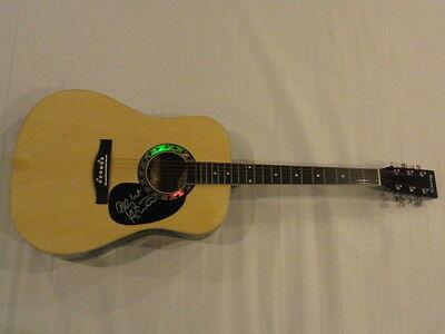 Kiefer Sutherland Signed Full-Size Natural Acoustic Guitar Country Exact Proof