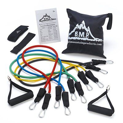 Black Mountain Products Stackable Resistance Exercise Band Set of 5 w/ Case