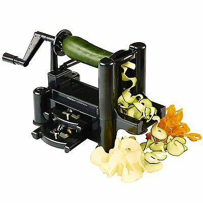Create the Perfect Veggie Noodles with 3-Blade Vegetable Spiralizer (PK012) CXX