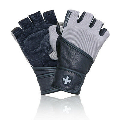 Harbinger Classic Unisex Grey Black Training Weightlifting Wristwrap Gloves