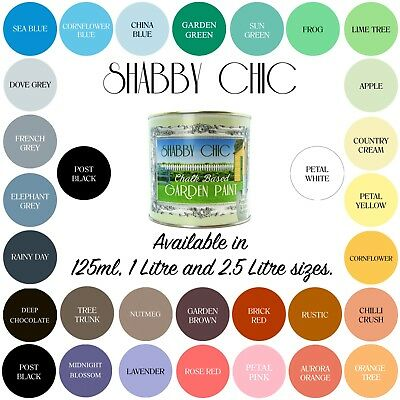 Shabby Chic Garden Chalk Paint for Gardens, Exterior and Outside Spaces