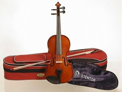 Stentor student II violin 4/4 size outfit, antique chestnut