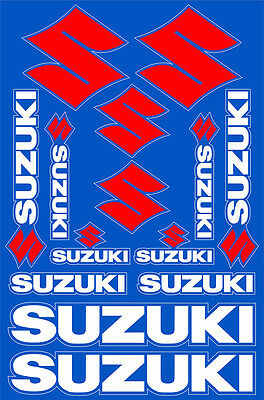 Suzuki motorcycle decals stickers graphic set vinyl logo aufkleber adesivi #1