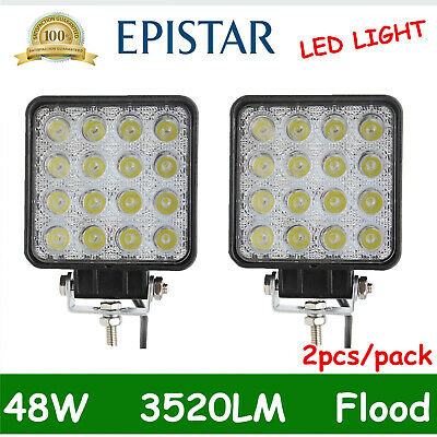 2pcs LED 48W 12V 24V Work Light FLOOD Light Off Road ATV SUV Car Boat Jeep Truck