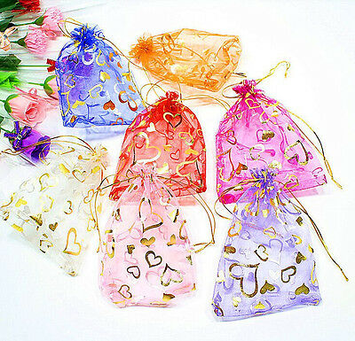 13x18cm 100pcs Jewelry Candy Organza Pouch Bags Wedding Party Favor Gift