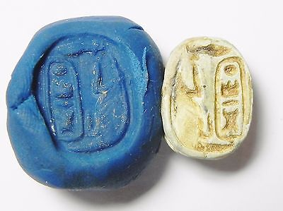 Zurqieh -Q94- Ancient Egypt , Steatite Scarab With Thotmes Iii Cartuche