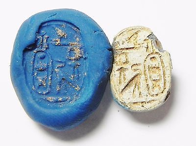 Zurqieh -Q95- Ancient Egypt , Steatite Scarab With Thotmes Iii Cartuche