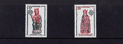 Andorra (French) - 1974 Church Sculptures (Europa) - U/M - SG F256-57