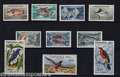 Mali - 1960 Fish & Birds - Mtd Mint - SG 3-12