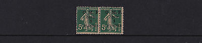 Syria - 1920 1p on Sower 5c - Black Ovpt with INVERTED 'S' - UM Pair - SG35(var)
