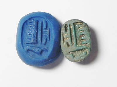 Zurqieh -Q109- Ancient Egypt , Faience Scarab , New Kingdom. 1400 B.c