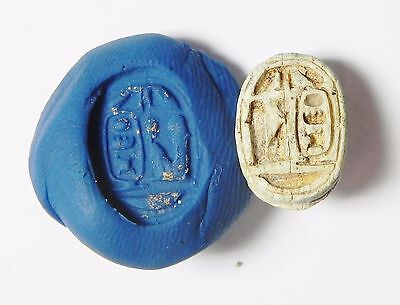 Zurqieh -Q114- Ancient Egypt , Steatite Scarab With Thotmes Iii Cartuche
