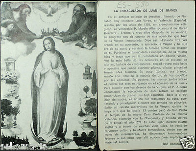 Old Blessed Virgin Immaculate Holy Card Andachtsbild Santini Estampa Cc693