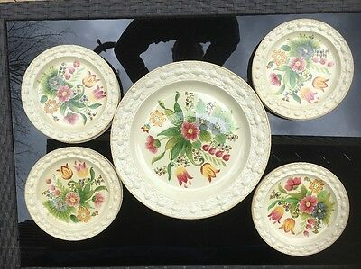 Adams Titan Ware hand painted Plates&Platter Antique