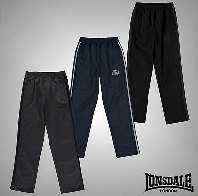 Junior Boys Lonsdale 2 Zip Pockets Track Pants Tracksuit Bottoms Size Age 7-13