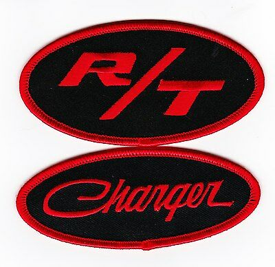 Dodge Charger R/t Black Red Sew/iron On Patch Badge Embroidered Hemi Mopar