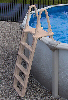 A-Frame Above Ground Pool Adjustable Ladder Confer Plastics 7100X