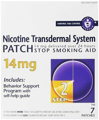 6 Pack - Habitrol Step 2 Nicotine Trans dermal System Patch 14mg 7 Patches Each