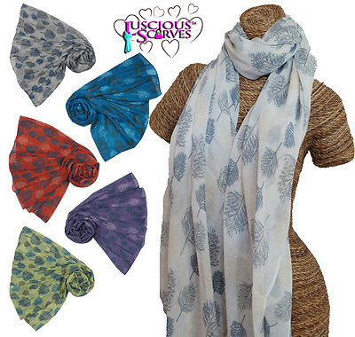 Ladies New 2016 Tree Silhouette Trees Scarf Superb Quality In 6 Colours Sarong