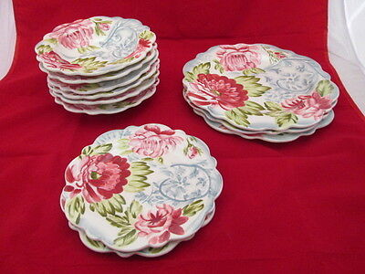 Rosalace by Jay Import 10pc Set Dinner Salad Plates Soup Bowls