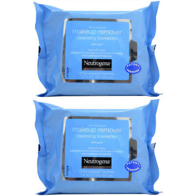 2 Pack - Neutrogena Makeup Remover Cleansing Towelettes, 25 Count Each
