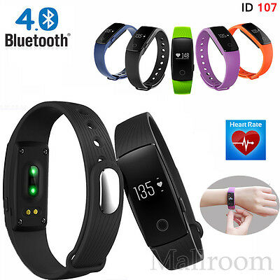 ID107 Bluetooth Smart Watch Reloj Pulsómetro Fitness Tracker para Android iOS