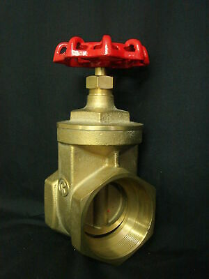 "4"" (102mm) Brass Gate Valve with Female to Female BSP Thread"