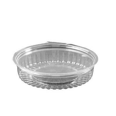 150x Clear Plastic Container with Hinged Flat Lid 20oz / 568mL Disposable Salad