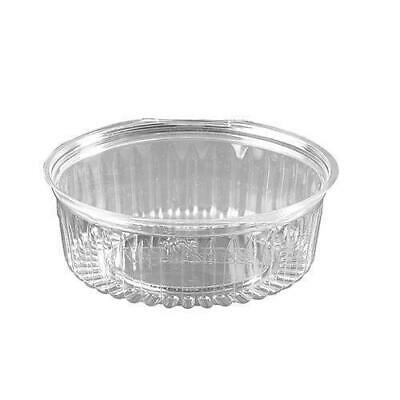 150x Clear Plastic Container with Hinged Flat Lid 24oz / 682mL Disposable Salad