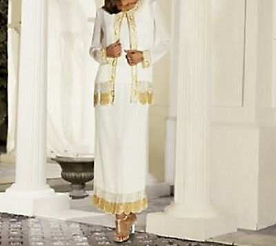 sz small Mother of Bride Groom Wedding evening Skirt & Jacket formal  new