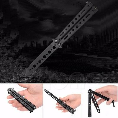 New Metal Practice Butterfly Balisong Practice Trainer Training Knife Dull Tool