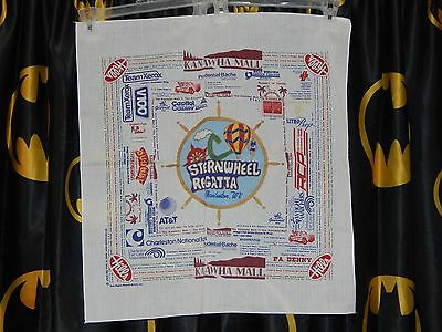 Vintage Charleston Wv Sternwheel Regatta Scarf Or Bandanna New Old Stock