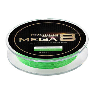 NEW KastKing 270M+ Super Strong Mega 8 Strands Braided Fishing Line Green/Black