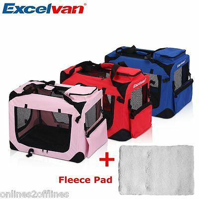 S/M/L/XL Dog Pet Puppy Fabric Soft Portable Carrier Crate Kennel Bag Cage Travel