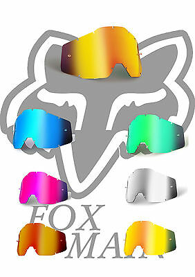 Goggle Shop MX lens for Fox Main - Mirror: All Colours