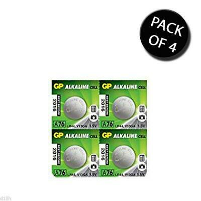 4x GP Batteries GPA76 Alkaline 1.5V Button Cell Batteries - Pack of 4