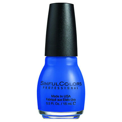SINFUL COLORS Professional Nail Polish #1052 Endless Vivid Blue 0.5 fl. oz. 15ml