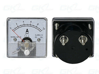 0- 10A DC Ammeter Amp Current Panel Meter Analogue Analog NEW