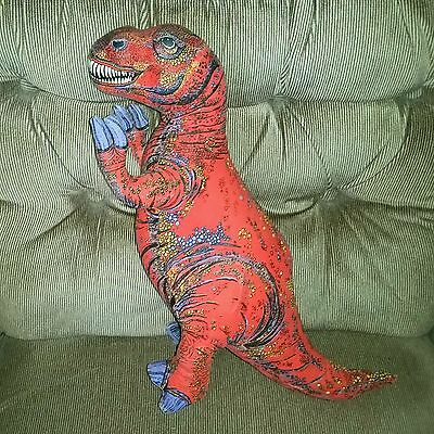 Vintage Applause T-REX Tyrannosaurus Rex Dinosaur Red Orange Stuffed Plush 1992