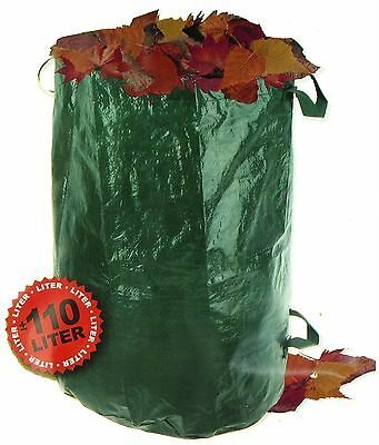 4 Stück Garden Rubbish Bag Compost bag a 110 L Leaves Grass Lawn Sack Bags /6