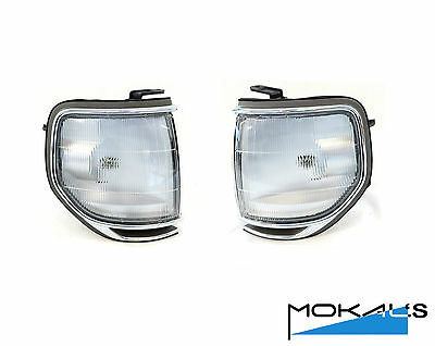 toyota landcruiser 80 series corner park lights 1989-1998 Pair (chrome rim) L&R