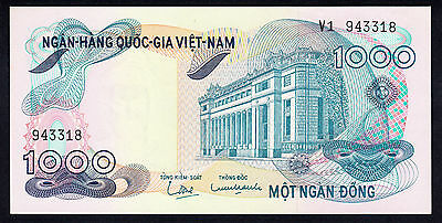 SOUTH VIETNAM 1000 DONG ND 1971 aUNC Note P.29