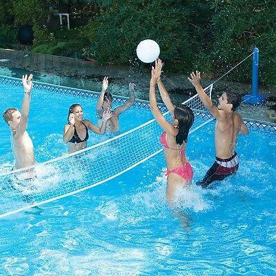 20' Cross Inground Pool Volleyball Net Game Set Swimming Water Inflatable Kids