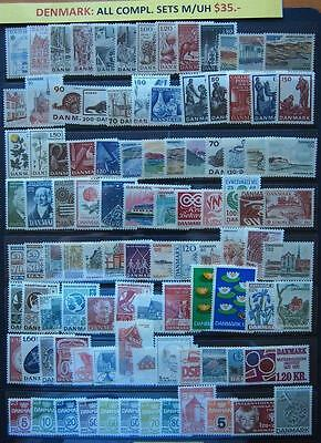 Denmark Mixed Stamps All Complete Sets - Mint Unhinged