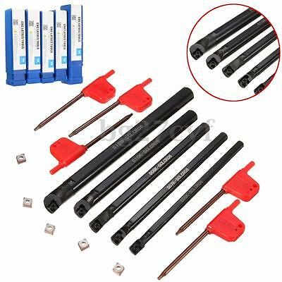 5pcs Of SCLCR 6 7 8 10 12mm Boring Bar Tunring Tool With 5PcsCCMT0602 Insert