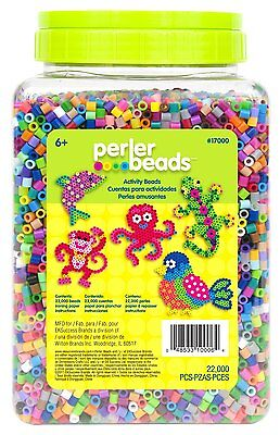 Perler Beads 22,000 Count Bead Jar Multi-Mix Colors (17000) FREE SHIPPING CXX