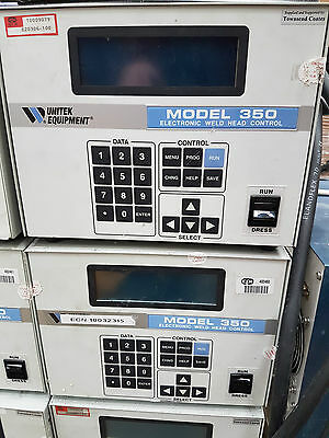 Miyachi Unitek 350 DC Weld Controller & 302H Electronic Weld Head with stand.