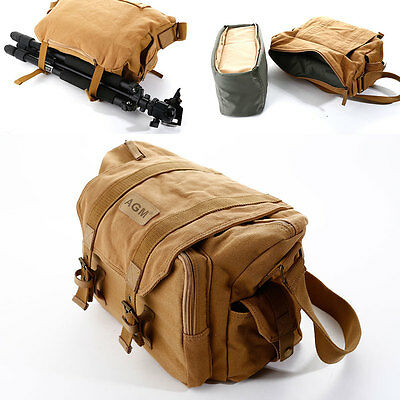 AGM DSLR SLR Vintage Camera Messenger Shoulder Bag for Nikon Canon Sony