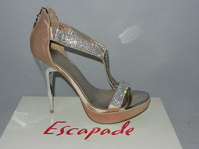 Escapade Heels Style Cameo in Champagne Satin size 40 (NEW) - W1-188